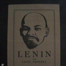 Coleccionismo de carteles: PUBLICIDAD LIBRO - LENIN POR LEON TROTZKY -VER FOTOS -(V-11.662). Lote 90372576