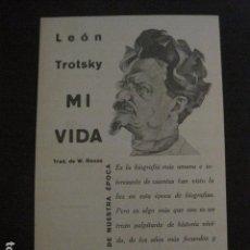 Coleccionismo de carteles: PUBLICIDAD LIBRO - LEON TROTSKY - MI VIDA -VER FOTOS -(V-11.663). Lote 90372648