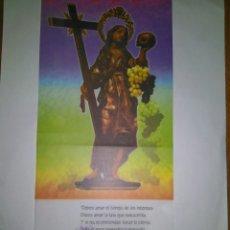 Coleccionismo de carteles: SANTA MARIA MAGDALENA SOBRE PAPEL CEBOLLA. POEMA SILVIO RODRIGUEZ. GRÁFICAS RODRIGUEZ. Lote 90838767