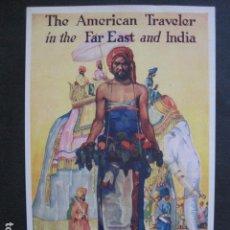 Coleccionismo de carteles: PEQUEÑO CARTEL ANTIGUO - PUBLICIDAD AMERICAN EXPRESS TRAVEL- -VER FOTOS-(V-11.756). Lote 91123560