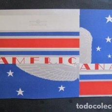 Coleccionismo de carteles: PEQUEÑO CARTEL ANTIGUO - AMFRICANA -VER FOTOS-(V-11.758). Lote 91124255