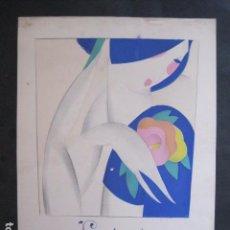 Coleccionismo de carteles: PEQUEÑO CARTEL ANTIGUO - ART DECO - LINCHANTE -VER FOTOS-(V-11.759). Lote 91124560
