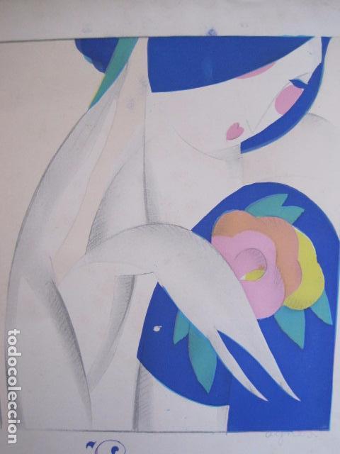 Coleccionismo de carteles: PEQUEÑO CARTEL ANTIGUO - ART DECO - LINCHANTE -VER FOTOS-(V-11.759) - Foto 2 - 91124560