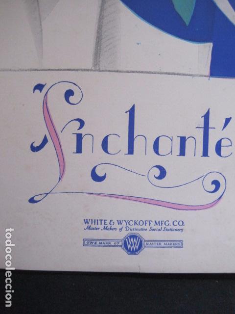 Coleccionismo de carteles: PEQUEÑO CARTEL ANTIGUO - ART DECO - LINCHANTE -VER FOTOS-(V-11.759) - Foto 3 - 91124560