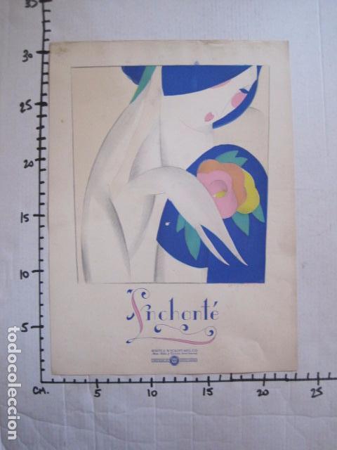 Coleccionismo de carteles: PEQUEÑO CARTEL ANTIGUO - ART DECO - LINCHANTE -VER FOTOS-(V-11.759) - Foto 5 - 91124560