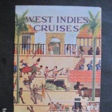 Coleccionismo de carteles: PEQUEÑO CARTEL ANTIGUO - WEST INDIES CRUSES -VER FOTOS-(V-11.763). Lote 91126435