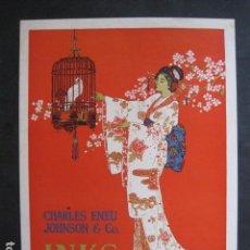 Coleccionismo de carteles: PEQUEÑO CARTEL ANTIGUO - INKS - CHARLES ENEU JOHNSON Y CIA. -VER FOTOS-(V-11.764). Lote 91126810