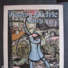 Coleccionismo de carteles: PEQUEÑO CARTEL ANTIGUO - WESTERN ELECTRIC NEWS -VER FOTOS-(V-11.766). Lote 91127490