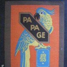 Coleccionismo de carteles: PEQUEÑO CARTEL ANTIGUO - PA PA GE - 1925 -VER FOTOS-(V-11.767). Lote 91127580