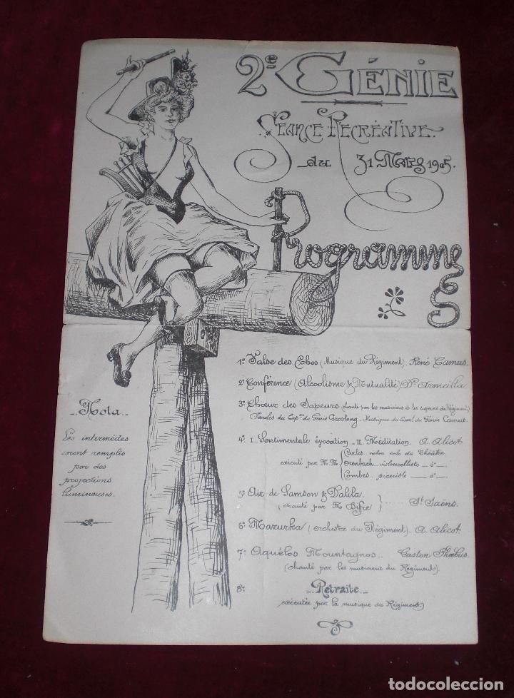 PRECIOSO CARTEL FIESTAS 1905 FRANCIA MODERNISTA (Coleccionismo - Carteles Pequeño Formato)