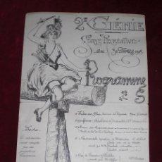 Coleccionismo de carteles: PRECIOSO CARTEL FIESTAS 1905 FRANCIA MODERNISTA. Lote 92303650