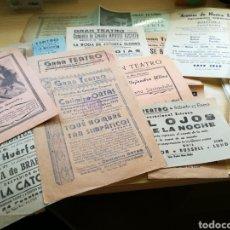 Coleccionismo de carteles: LOTE DE 14 PROGRAMAS DEL GRAN TEATRO DE ELCHE. DE 1943 A 1946. Lote 92440663