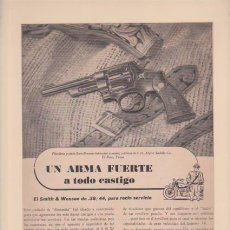 Collectionnisme d'affiches: SMITH & WESSON / REVOLVER - PUBLICIDAD - 25 X 32,5 CM. - ORIGINAL - 8 MAYO 1946. Lote 93177880