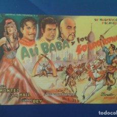 Colecionismo de cartazes: PROGRAMA DE CINE FOLLETO DE MANO PROSPECTO , ALI BABA Y LOS 40 LADRONES. Lote 144475365