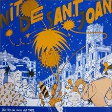 Coleccionismo de carteles: DANIEL TORRES. CARTEL NIT DE SANT JOAN. 1982. Lote 94600780