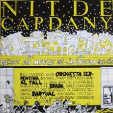 Coleccionismo de carteles: DANIEL TORRES. CARTEL NIT DE CAP D'ANY. 1982. Lote 94600818
