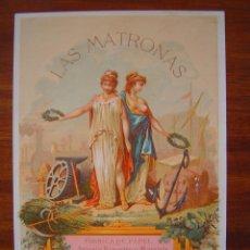 Coleccionismo de carteles: PRECIOSO CARTEL PUBLICIDAD - FABRICA DE PAPEL ANTONIO BONASTRE MARQUES - LAS MATRONAS -16,3X23,5CM. Lote 95682435