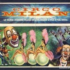 Coleccionismo de carteles: FOLLETO O PROGRAMA DE MANO DEL CIRCO MILAN (18 X 13,5 CMS). Lote 96012523