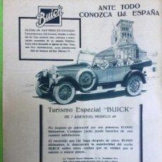 Coleccionismo de carteles: BUICK MODELO 49 IGLESIA DE SAN TIRSO EN SAHAGUN HOJA AÑO 1926. Lote 96024851