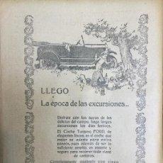 Coleccionismo de carteles: FORD TURISMO NEMATICOS BALLOON AUTOMÓVILES ANTIGUOS HOJA AÑO 1926. Lote 96025055