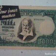 Coleccionismo de carteles: PUBLICIDAD MAQUINA VITOS REPARADORA DE MEDIAS. DIPTICO DOS PAJINAS. AÑOS 50 RARO. Lote 96027963