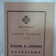 Coleccionismo de carteles: LIBRITO TRIPTICO- ACCCION CATOLICA - JAEN - CATECISMO DE LA BULA- AÑOS 40. Lote 96029219