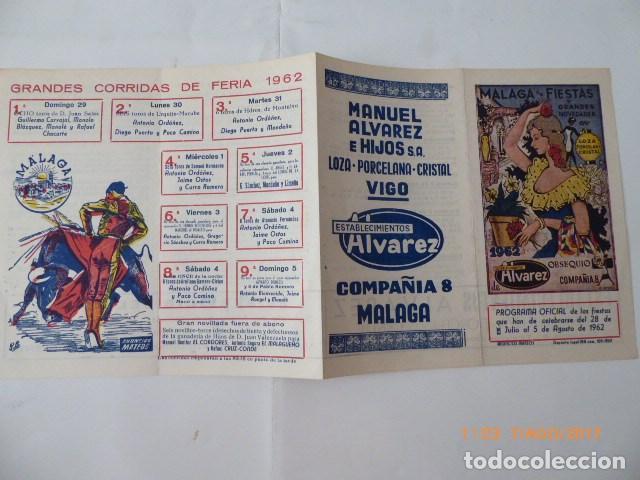 MALAGA EN FIESTAS, PUBLICIDAD, AÑO 62, FOLLETO. (Coleccionismo - Carteles Pequeño Formato)