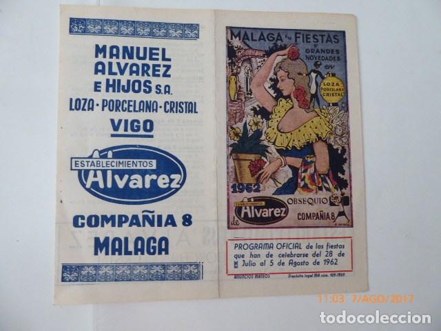 Coleccionismo de carteles: malaga en fiestas, publicidad, año 62, folleto. - Foto 3 - 96420651