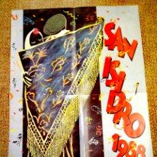 Coleccionismo de carteles: SAN ISIDRO 1988 - CARTEL PROGRAMA DE FIESTAS DE MADRID CAMARON. Lote 97156734