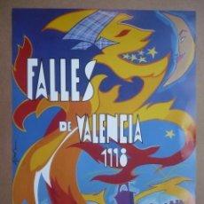 Coleccionismo de carteles: CARTEL FALLES DE VALÈNCIA 1998 - FALLAS - 49 X 34 CM.-. Lote 97267963