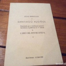 Coleccionismo de carteles: HOMENAJE SANTIAGO RUISEÑOL 1951 . HAY UNA DEDICATORIA FIRMADA POR MARÍA RUISEÑOL. Lote 97412491