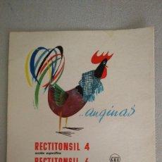 Coleccionismo de carteles: CARTULINA PUBLICIDAD DE FARMACIA AÑOS 60. Lote 98766235