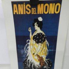 Coleccionismo de carteles: CARTEL ÉPOCA POSTER PUBLICIDAD FACSIMIL 45CMX29CM ANIS DEL MONO RAMON CASAS. Lote 99007135