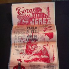 Coleccionismo de carteles: CARTEL DE SEDA TOROS EN JEREZ XXVII FIESTA DE LA VENDIMIA DEL SHERRY DEDICADA A JAPÓN. Lote 99389980