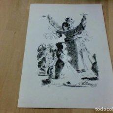 Coleccionismo de carteles: DIBUJO FIRMADO POR CASTEJÓN - MUY IMPACTANTE. Lote 99562287