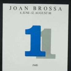 Coleccionismo de carteles: CARTEL JOAN BROSSA 8 JUNI-2AUGUST 88. Lote 99812111