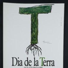 Coleccionismo de carteles: CARTEL JOAN BROSSA DIA DE LA TERRA ABRIL 1994. Lote 99993919