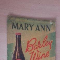 Coleccionismo de carteles: MUY ANTIGUO CARTEL DE CARTON GORDOMARY ANN BARLEY WINE.. Lote 100167836