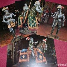 Coleccionismo de carteles: LOTE LÁMINAS AÑOS '60 GRAN LUJO - LABORATORIOS LÁCER - COLECCIÓN ARMADURAS 1 AL 4. Lote 100341215