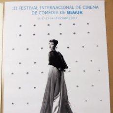 Coleccionismo de carteles: CARTEL 3º FESTIVAL DE CINE DE COMEDIA DE BEGUR 2017 COSTA BRAVA AUDREY HEPBURN 29.5 X 42 CM. Lote 136391169