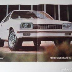 Coleccionismo de carteles: POSTER FORD MUSTANG III DE 1976 REV. VELOCIDAD. Lote 101239923