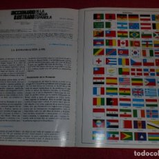 Coleccionismo de carteles: SEPARATA DICCIONARIO ILUSTRADO - AÑOS '70: BANDERAS DEL MUNDO. Lote 101284247
