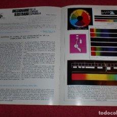 Coleccionismo de carteles: SEPARATA DICCIONARIO ILUSTRADO - AÑOS '70: GAMA CROMÁTICA & HERÁLDICA. Lote 101284679