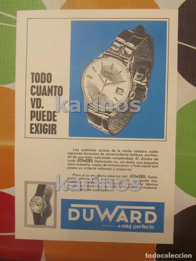 1968 DUWARD RELOJ. (VT68) (Coleccionismo - Carteles Pequeño Formato)