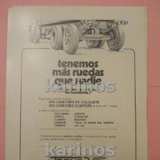 Colecionismo de cartazes: 1974 BILBAO. COOPERATIVA TRANS VOL (CT74). Lote 101885059