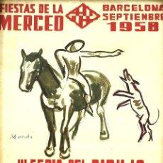 Coleccionismo de carteles: PRUEBA CARTEL III FERIA CIRCULO ARTISTICO. FIRMADO MUNDÓ. BARCELONA. ESPAÑA.1958. Lote 101915599