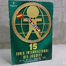 Coleccionismo de carteles: CARTEL 15 FERIA INTERNACIONAL DEL JUGUETE 1976. Lote 102063111
