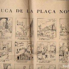 Coleccionismo de carteles: AUCA ALELUYA DE LA PLAÇA NOVA - BARCELONA, 1959 - ILUSTRADA POR CASTANYS. Lote 102063419