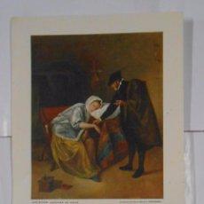 Coleccionismo de carteles: LAMINA COLECCION ESTAMPAS MEDICAS CEREGUMIL Nº 10. MALAGA. JAN STEEN ENFERMA DE AMOR. TDKPR2. Lote 102338271