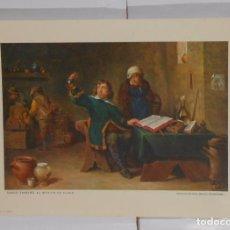 Coleccionismo de carteles: LAMINA COLECCION ESTAMPAS MEDICAS CEREGUMIL Nº 9. MALAGA. DAVID TANIERS EL MEDICO DE ALDEA. TDKPR2. Lote 102338327